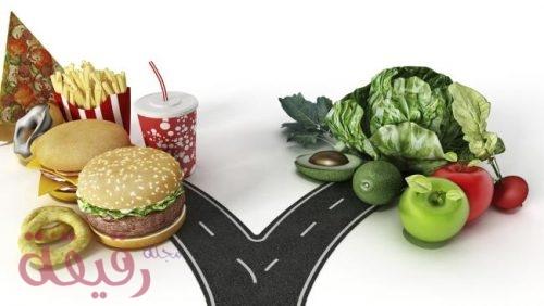 معلومات عن الغذاء الصحي والغير صحي مجلة رجيم