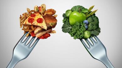 صورة دليل السعرات الحرارية في النشويات اللحوم الفواكه