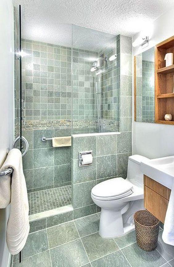 صور ديكور حمامات صغيرة .