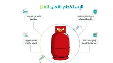 صورة الدفاع المدني يوضح 5 إرشادات ضرورية لتفادي أخطار أسطوانات الغاز