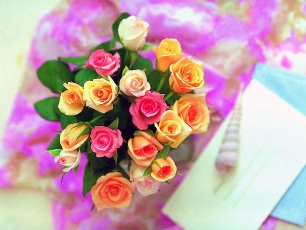باقة ورود رومانسية للأهداء