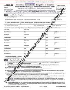 Form 1023-EZ (June 2014) - f1023ez