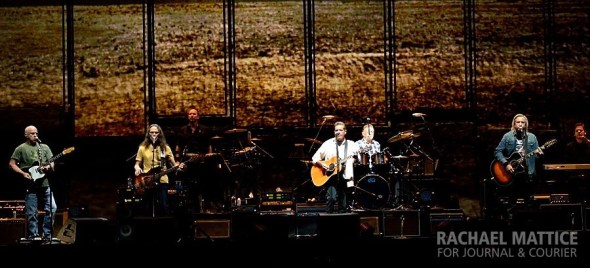The Eagles perform at Bankers Life Fieldhouse in Indianapolis on Friday, October 18, 2013. (Photo by Rachael Mattice/Journal & Courier)
