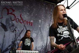 Children of Bodom perform on the Musicians Institute Stage during Mayhem Festival at Klipsch Music Center in Noblesville, Ind. on Friday, July 26, 2013. (Photo by Rachael Mattice/Journal & Courier)