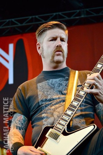 Mastodon perform on the Main Stage during Mayhem Festival at Klipsch Music Center in Noblesville, Ind. on Friday, July 26, 2013. (Photo by Rachael Mattice/Journal & Courier)