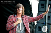 (Photo by Rachael Mattice/Journal & Courier) Sleeping with Sirens took the stage with several other bands during Vans Warped Tour at Klipsch Music Center in Noblesville, Ind. on Wednesday, July 3, 2013.