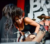 Photo by Rachael Mattice/Journal & Courier) The Butcher Babies perform on the Jagermeister Stage during Mayhem Festival at Klipsch Music Center in Noblesville, Ind. on Friday, July 26, 2013.