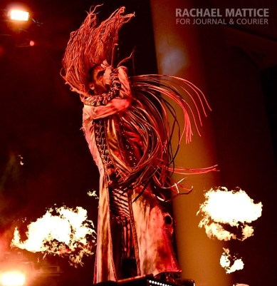 (Photo by Rachael Mattice/Journal & Courier) Rob Zombie co-headlines Mayhem Festival and performs on the Main Stage at Klipsch Music Center in Noblesville, Ind. on Friday, July 26, 2013.