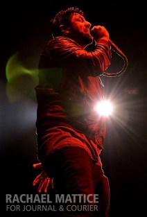 (Photo by Rachael Mattice/Journal & Courier) Deftones open for Avenged Sevenfold and perform at Klipsch Music Center in Noblesville, Ind. on Saturday, October 5, 2013.