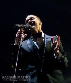 Justin Timberlake performs at Bankers Life Fieldhouse in Indianapolis, Ind. on Wednesday, December 11, 2013.