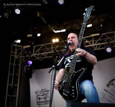 """""""Carcass bassist and vocalist Jeff Walker performs at Chicago Open Air music festival on Saturday, July 15, 2016 at Toyota Park in Bridgeview, Ill. Photo by Rachael Mattice/For Metal Insider."""""""