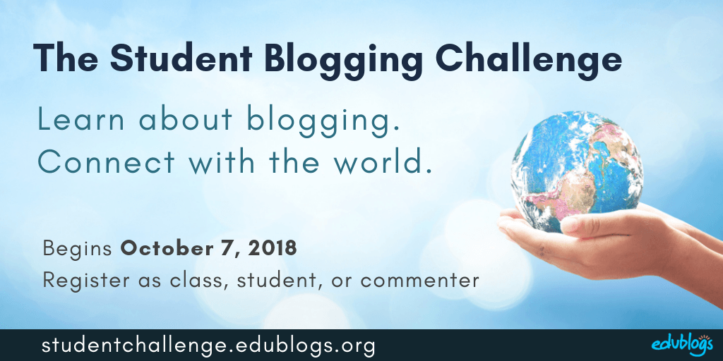 Registrations are now open for Student Blogging Challenge -- learn about blogging and connect with classes around the world!
