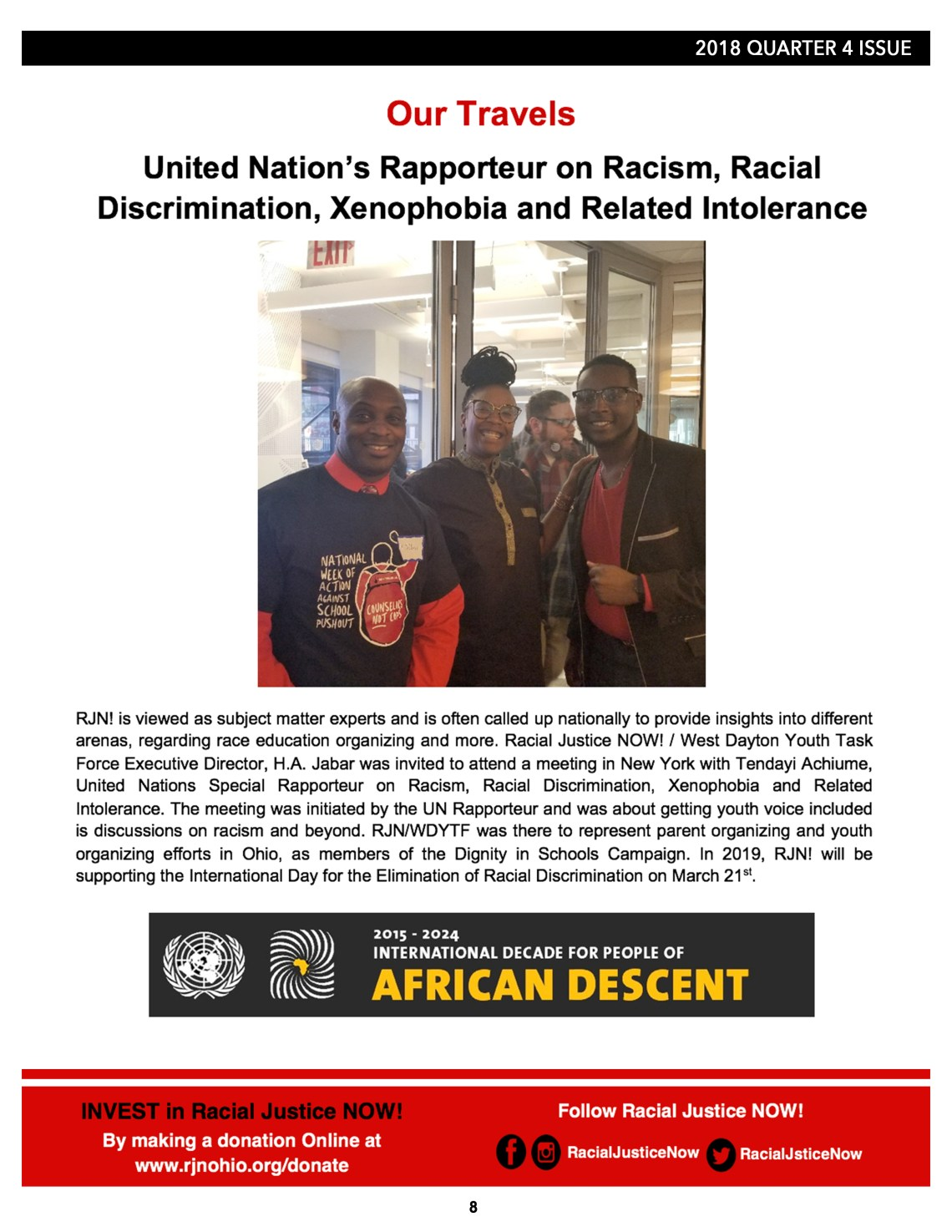 b983dc9600d78 Racial Justice NOW! 2018 Wrap Up Newsletter. Education News   Media ·  February 19
