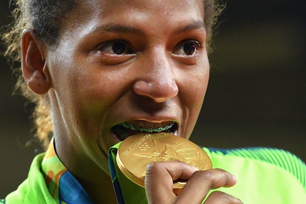 Rafaela Silva venceu o ouro na categoria até 47kg