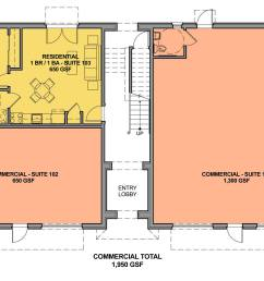 ground floor with one accessible unit to take care of the fair housing act requirement for [ 2048 x 1290 Pixel ]