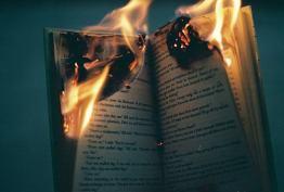 горящая книга