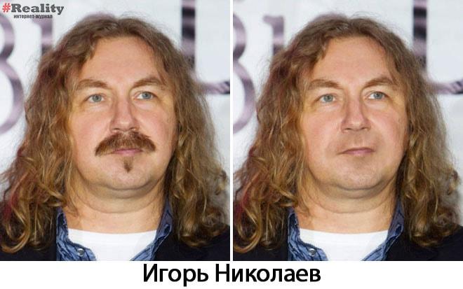 Игорь Николаев без усов