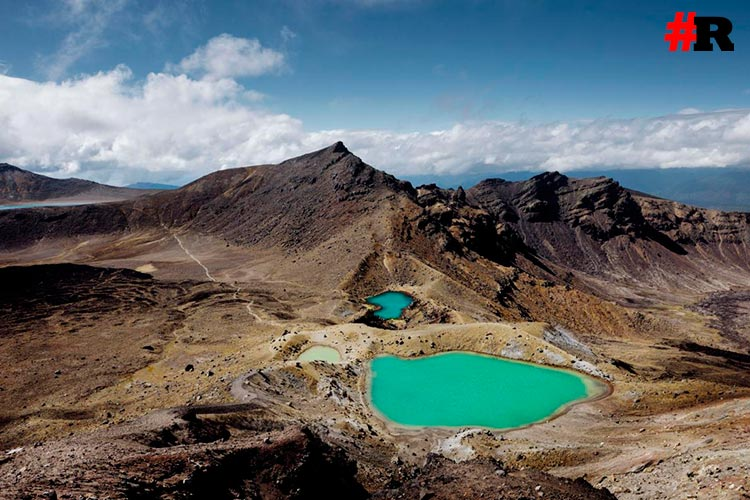 кратеры в новой зеландии
