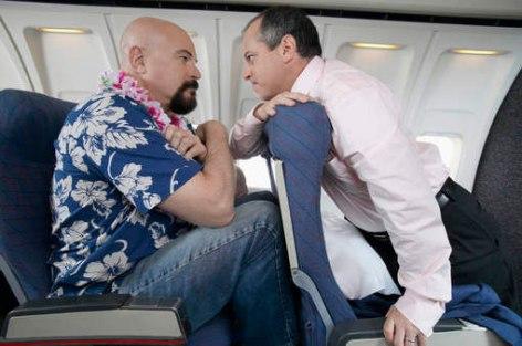 буйный пассажир в самолете