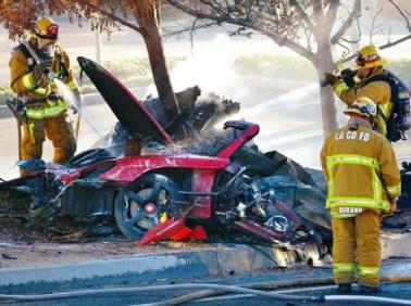 Машина Пола Уокера после аварии