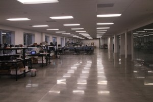 Our new hardware lab which is more than twice the size of the previous lab.