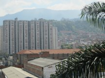 The city neighborhoods climb the mountains