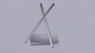 Chopsticks and Rest 3D Model UnTextured Render