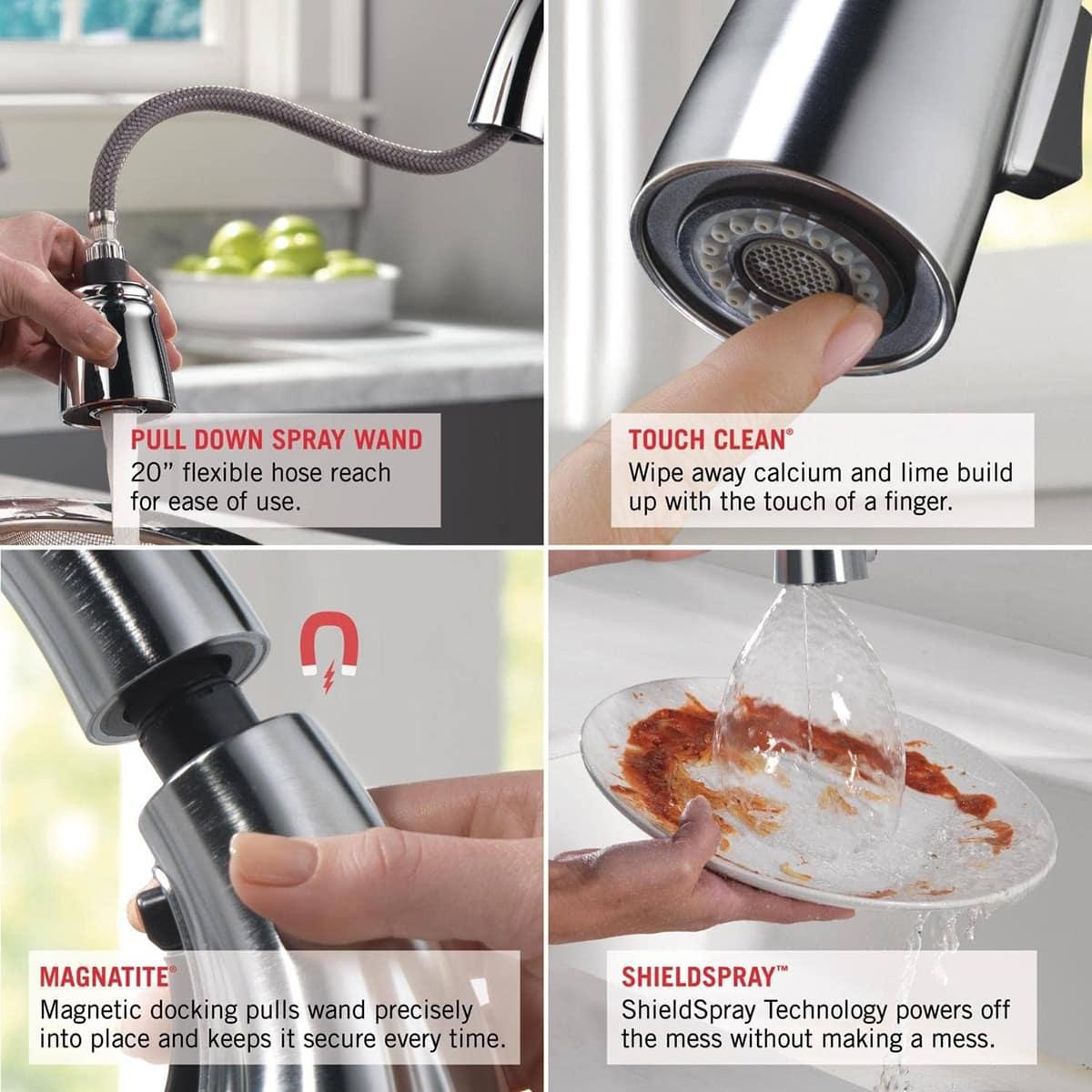 delta faucet cassidy single handle kitchen sink faucet 9197 pr dst