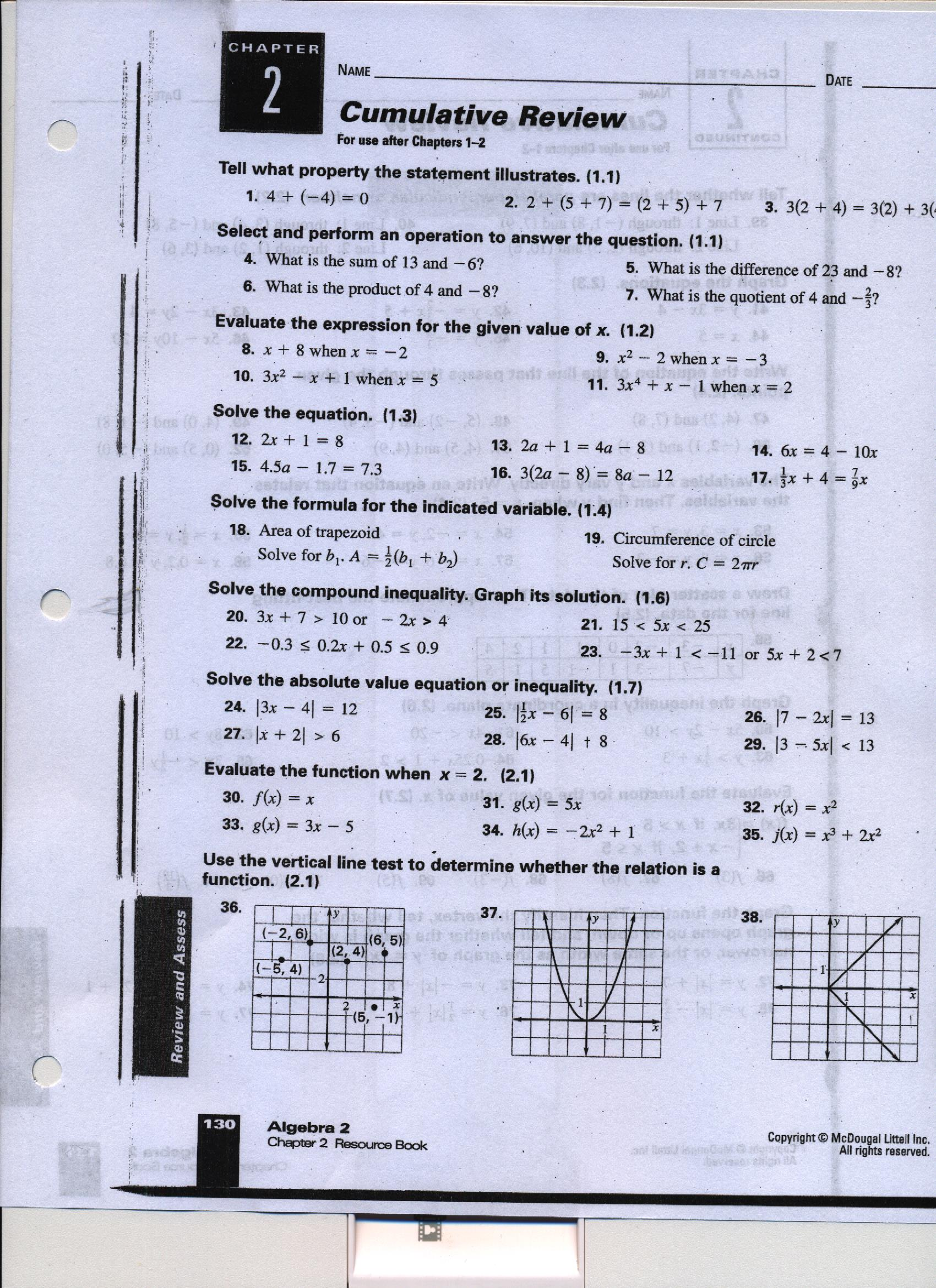 Problem Solving Workbook Holt Mathematics Course 2 Answers