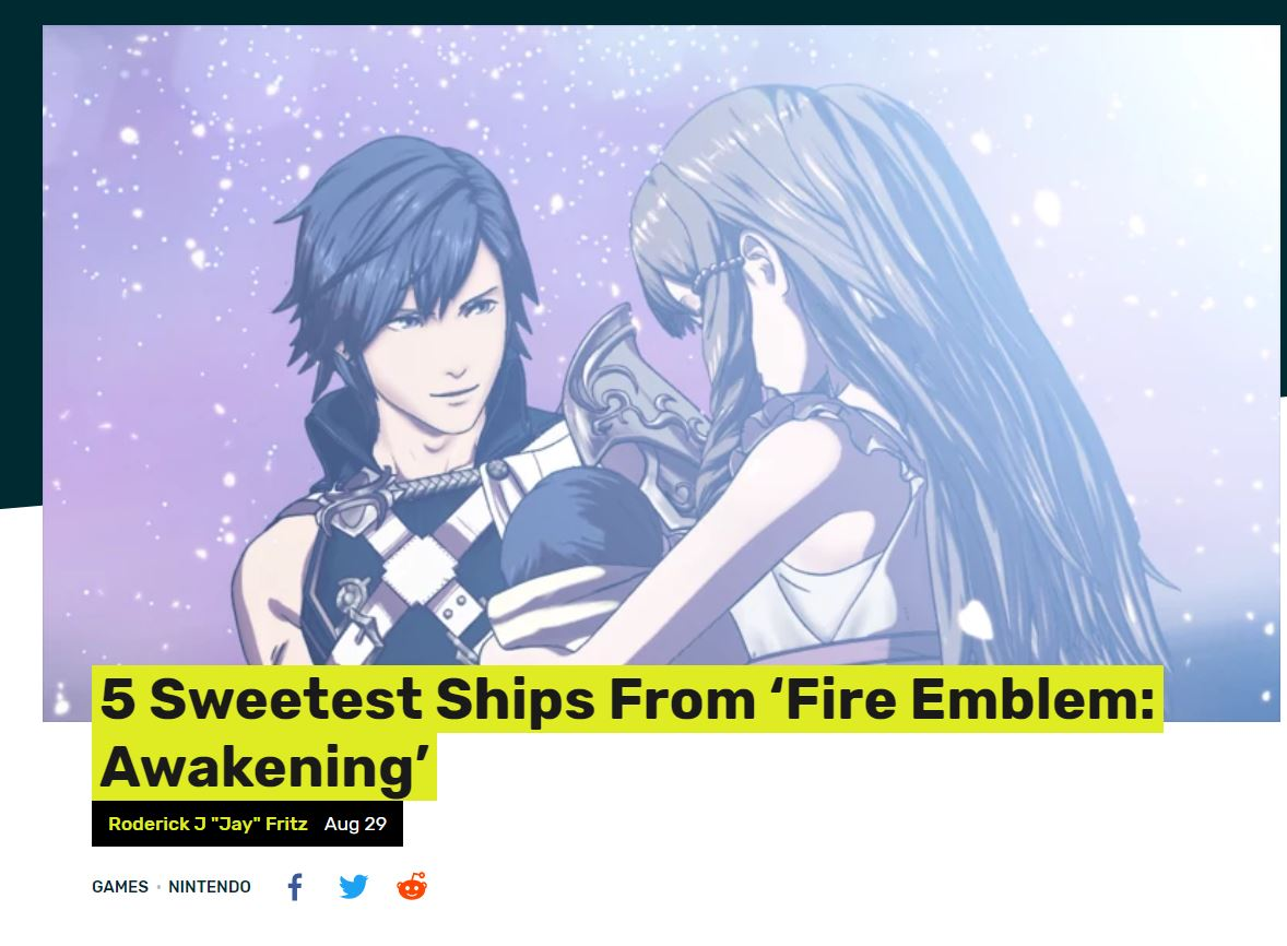 Fire Emblem Shipping Introduction to My Blog