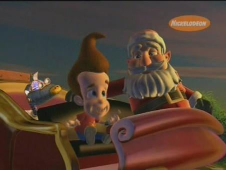 Jimmy Neutron and Santa, both geniuses