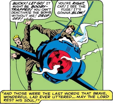 """Bucky Barnes """"Death"""" in comics, Marvel Comics"""