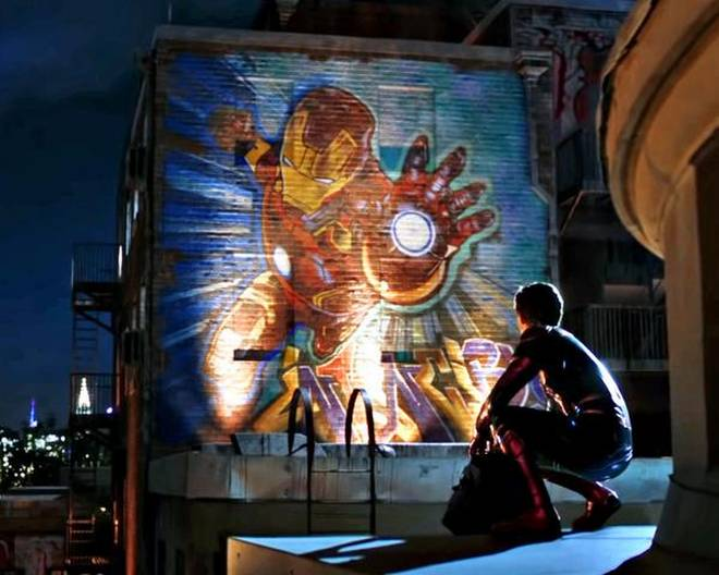 Iron Man's Grafitti Art Far From Home