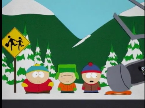 Oh my god, they killed Kenny! You Bastards! South park Pinkeye
