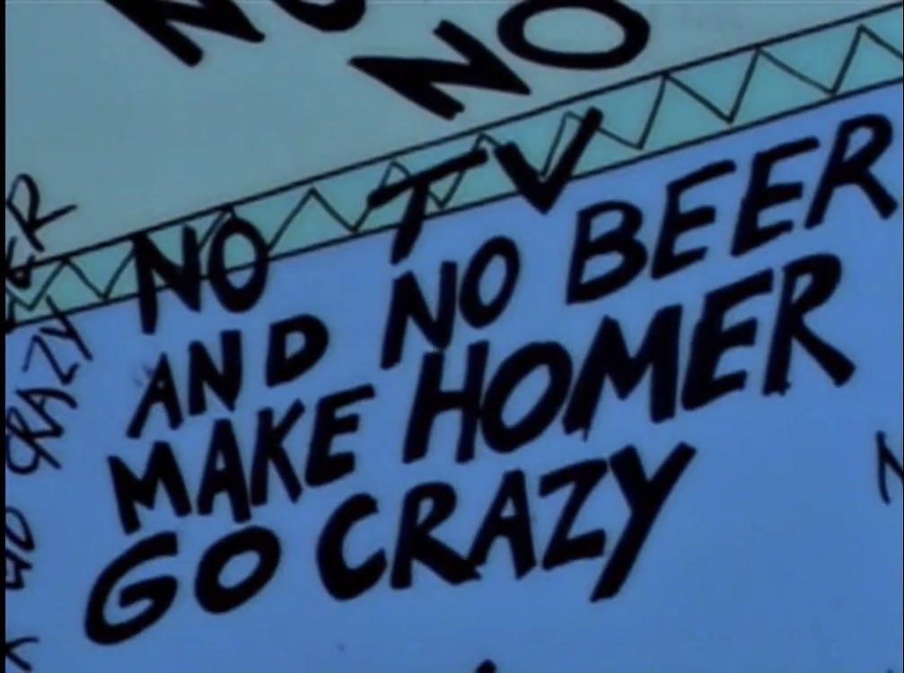No TV and No Beer Make Homer Crazy Treehouse of Horror
