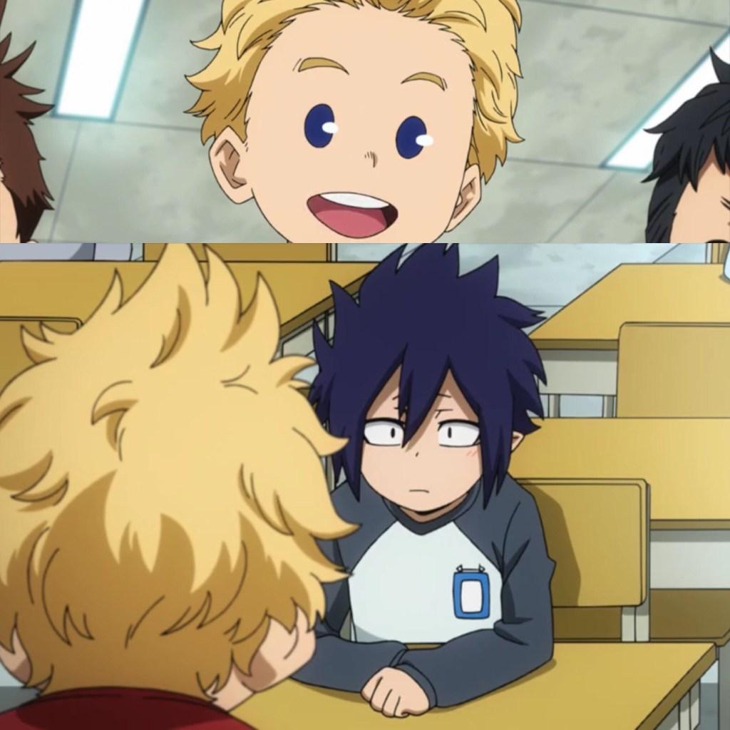 Togata and Amajiki first meet (My Hero Academia Season 4 Episode 8)