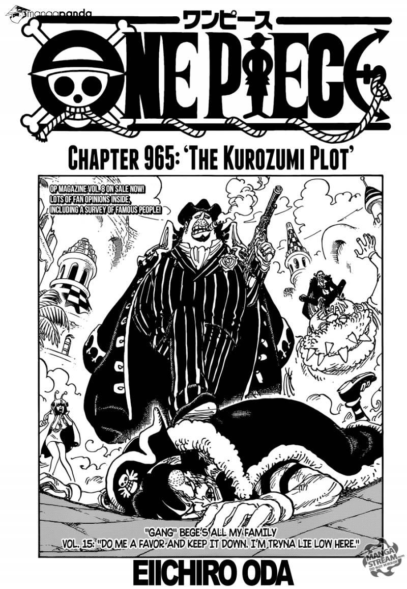 The Kurozumi Plot