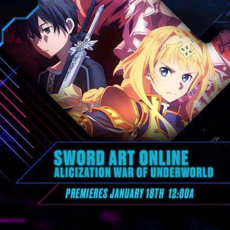 Sword Art Online: Alicization- War of Underworld, coming to Toonami on Jan 18th, 2020