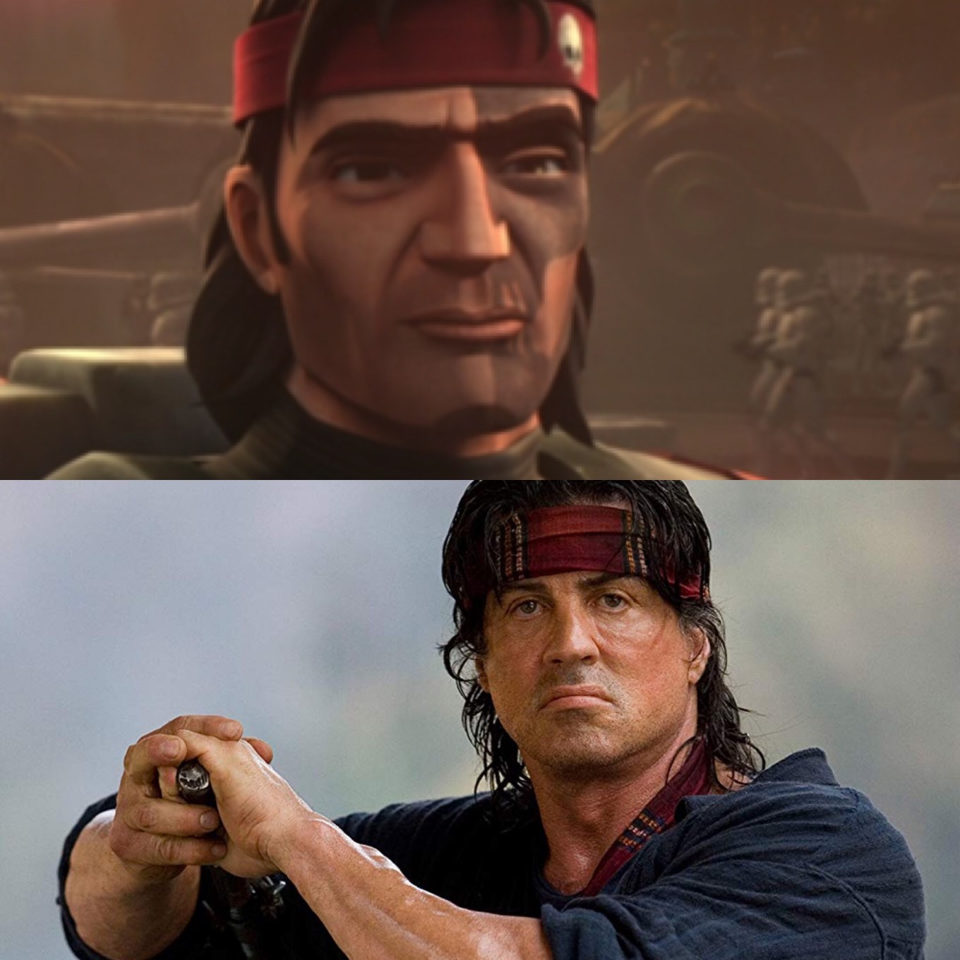 "Hunter from ""Bad Batch"" is rambo"