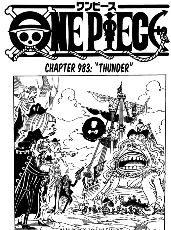 One Piece Chapter 983 Cover Page- Dad Reunited with Children
