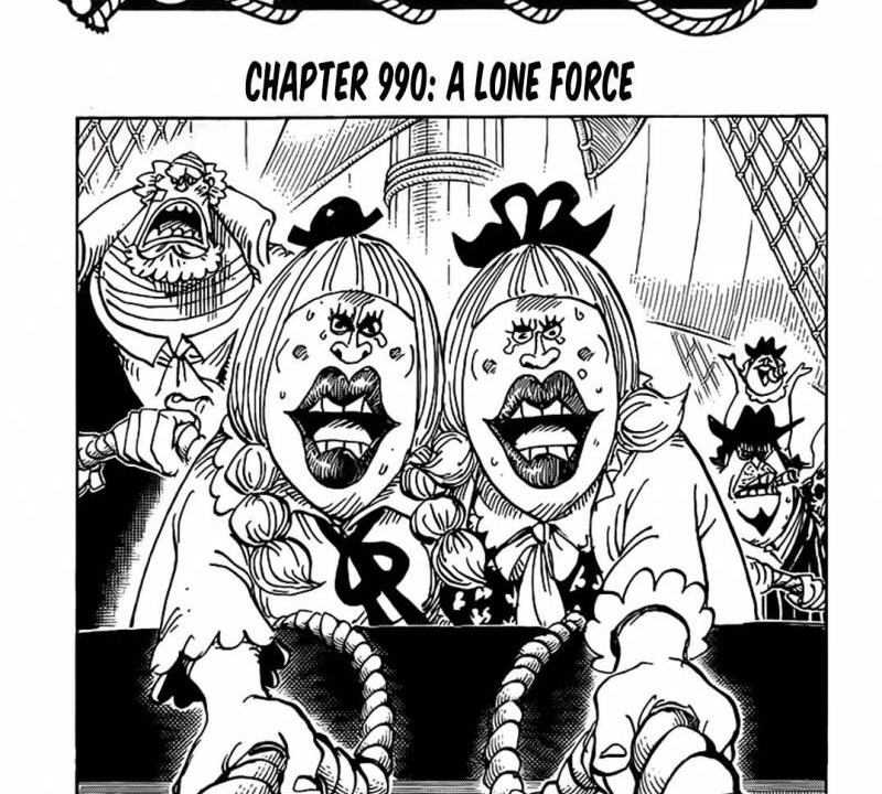 One Piece Chapter 990 Cover Page
