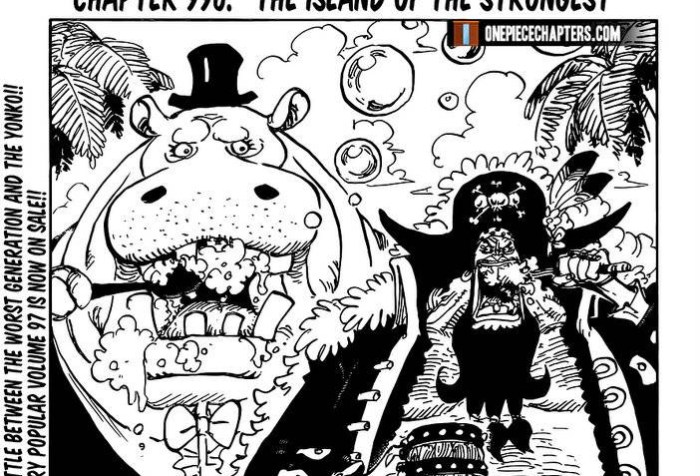 One Piece Chapter 996 Cover Page