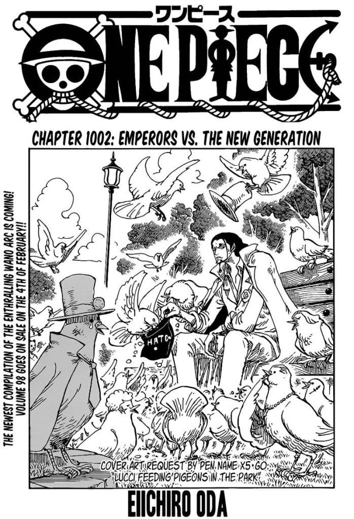 One Piece Chapter 1002 Cover Page
