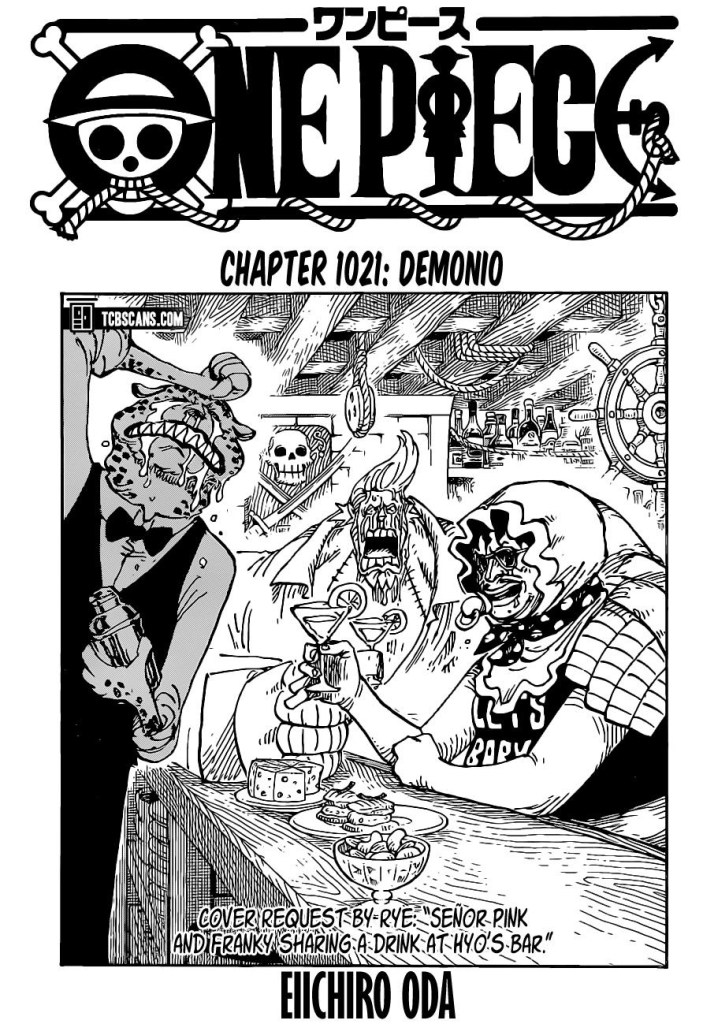 One Piece Chapter 1021 Cover Page