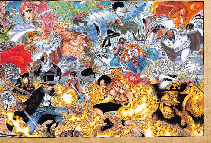 One Piece Chapter 1025 Color Spread