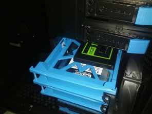 Solid state drive (SSD) installed