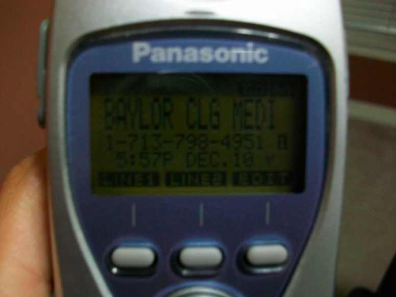 """The call"" from Baylor Med"