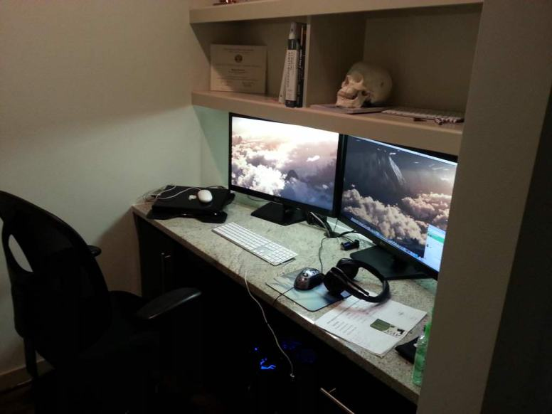 My workstation's lair