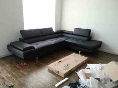 Finished assembling the sectional
