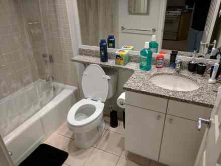 New bathroom... basically furnished